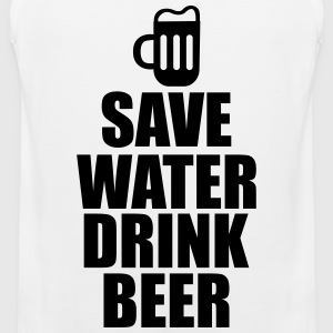 Alcohol Fun Shirt - Save water drink beer Tank Tops - Herre Premium tanktop