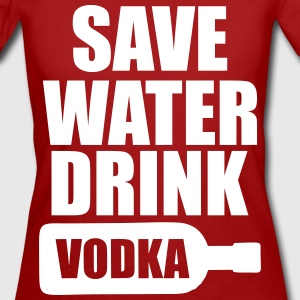 Alcohol Fun Shirt - Save water drink Vodka T-shirts - Organic damer