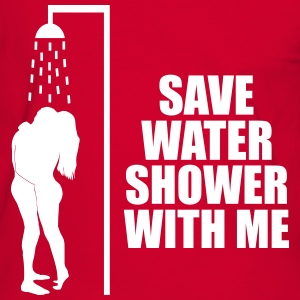 Save water shower with me T-Shirts - Men's Ringer Shirt