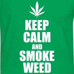 Keep Calm and Smoke weed - Cannabis Tee shirts - T-shirt contraste Homme