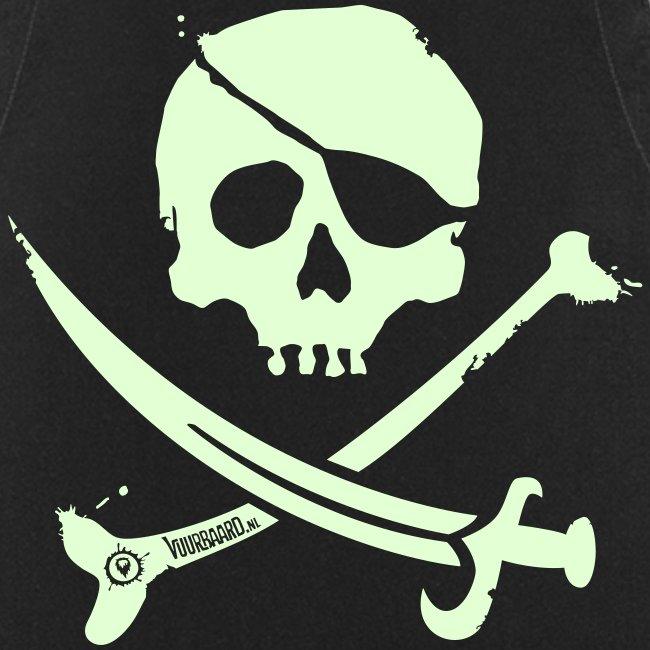 Pirate Crew (White print, glows green in the dark) - Apron