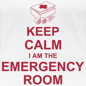 keep_calm_i_am_the_emergency_room_g1 Koszulki - Koszulka damska Premium