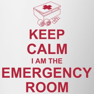 keep_calm_i_am_the_emergency_room_g1 Flaschen & Tassen - Tasse zweifarbig
