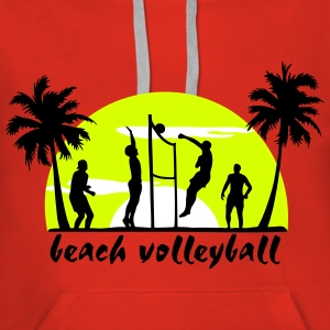 beach volleyball Hoodies & Sweatshirts - Dame Premium hættetrøje