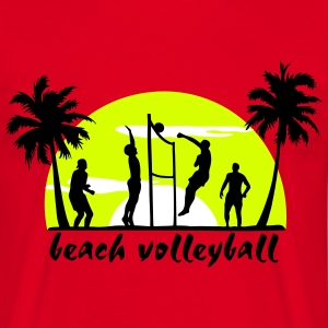 beach volleyball T-Shirts - Herre-T-shirt