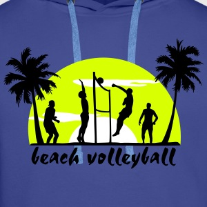beach-volley - Sweat-shirt à capuche Premium pour hommes