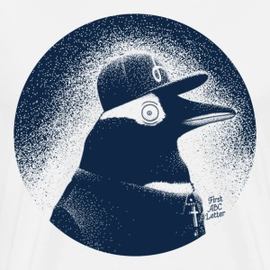 Vit Pinguin dressed in black T-shirts - Premium-T-shirt herr