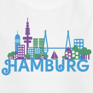 Skyline of Hamburg Shirts - Kids' T-Shirt