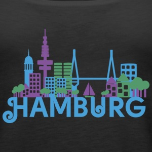 Skyline of Hamburg Tops - Women's Premium Tank Top