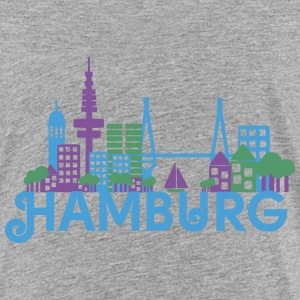 Skyline of Hamburg Shirts - Kids' Premium T-Shirt