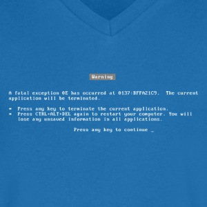 bluescreen / blue screen / fatal error / nerd T-Shirts - Men's V-Neck T-Shirt