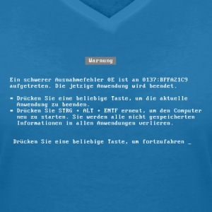 bluescreen (deutsch / german language) T-Shirts - Women's V-Neck T-Shirt