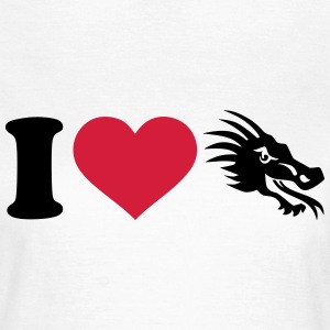 I love Drachen T-Shirts - Frauen T-Shirt