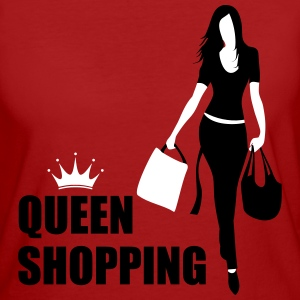 Queen Shopping Crown T-skjorter - Økologisk T-skjorte for kvinner