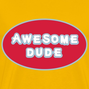 Awesome Dude, Superhero Awesome Dude T-shirts - Mannen Premium T-shirt