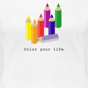 Color your life Camisetas - Camiseta premium mujer