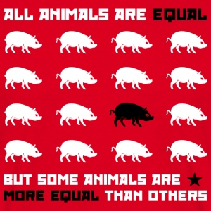 All animals are equal 2 (red) T-Shirts - Men's T-Shirt