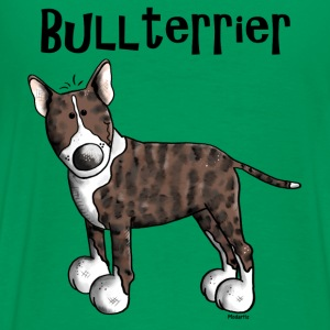Cute Bull Terrier - Dog T-Shirts - Men's Premium T-Shirt