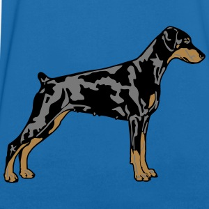 Dobermann Pinscher Dog T-skjorter - T-skjorte med V-utsnitt for menn