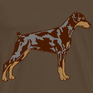 Dobermann Pinscher Dog T-shirts - Mannen Premium T-shirt