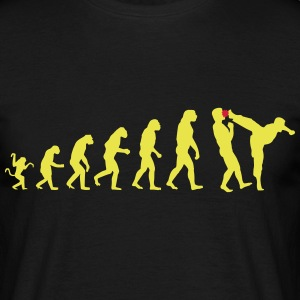 Evolution kicks ass - Männer T-Shirt