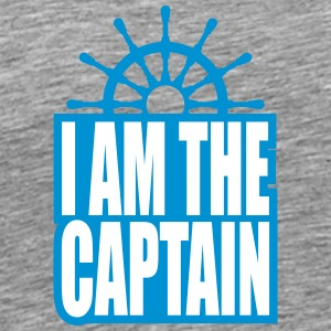 Cool I am the Captain Logo T-Shirts - Men's Premium T-Shirt