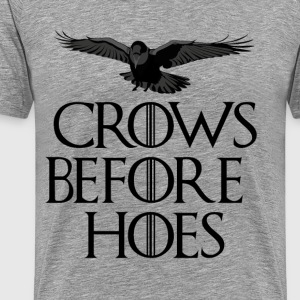 Crows Before Hoes - Men's Premium T-Shirt