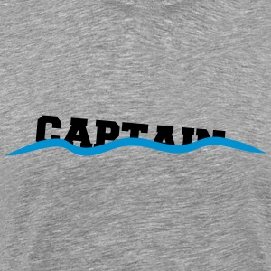 Decline sinking waves drown captain T-Shirts - Men's Premium T-Shirt