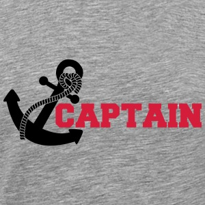 Capitaine ancre Logo Design Tee shirts - T-shirt Premium Homme