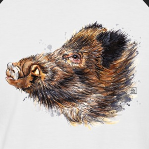 SM Wildschwein | wild boar T-Shirts - Men's Baseball T-Shirt