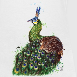 SM Pfau | peacock T-Shirts - Women's V-Neck T-Shirt