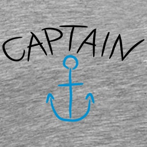 Captain Anchor Comic Logo T-Shirts - Men's Premium T-Shirt