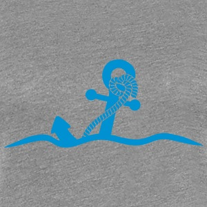 Anchor under water waves design T-Shirts - Women's Premium T-Shirt