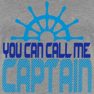 You can call me Captain Crew Logo T-Shirts - Women's Premium T-Shirt