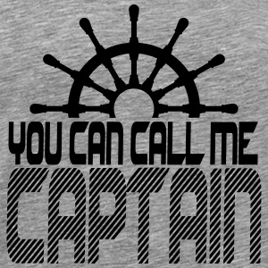 You can call me Captain Crew Logo T-Shirts - Men's Premium T-Shirt