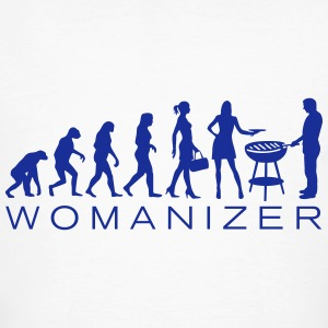 Evolution Womanizer BBQ T-Shirts - Männer Bio-T-Shirt