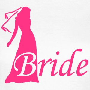 bride silhouette hen night T-shirts - Vrouwen T-shirt