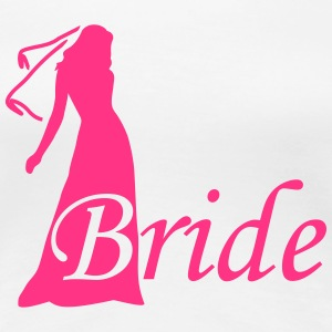 bride silhouette hen night T-shirts - Vrouwen Premium T-shirt