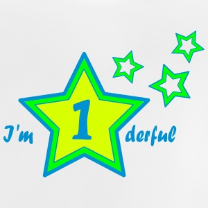I'm 1derful / I'm wonderful first birthday Shirts - Baby T-shirt