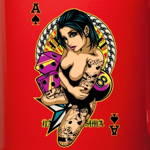 Tattooed Game Pin-Up Girl V2 Flaschen & Tassen - Tasse einfarbig
