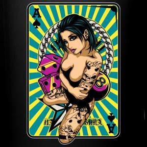 Tattooed Game Pin-Up Girl Flaschen & Tassen - Tasse einfarbig