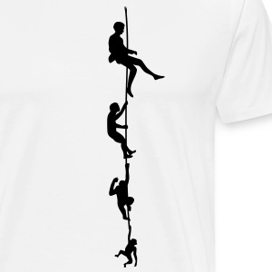 Evolution Klatring Rope T-skjorter - Premium T-skjorte for menn