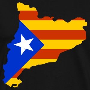 Catalonia map with flag T-Shirts - Men's Premium T-Shirt