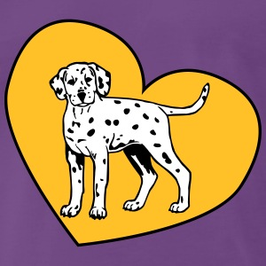 Dalmatian Puppy Dog with Heart Tee shirts - T-shirt Premium Homme