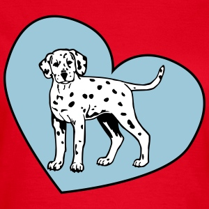 Dalmatian Puppy Dog with Heart Tee shirts - T-shirt Femme