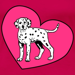 Dalmatian Puppy Dog with Heart Tee shirts - T-shirt Premium Femme