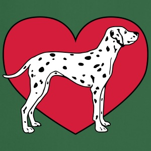 Dalmatian Dog with Heart Kookschorten - Keukenschort