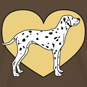 Dalmatian Dog with Heart Tee shirts - T-shirt Premium Homme
