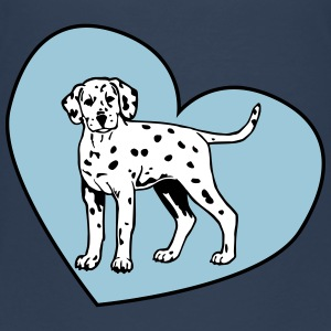 Dalmatian Puppy Dog with Heart Shirts - Teenager Premium T-shirt