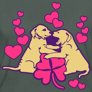 Dog Puppy Love Luck Tee shirts - T-shirt Bio Femme